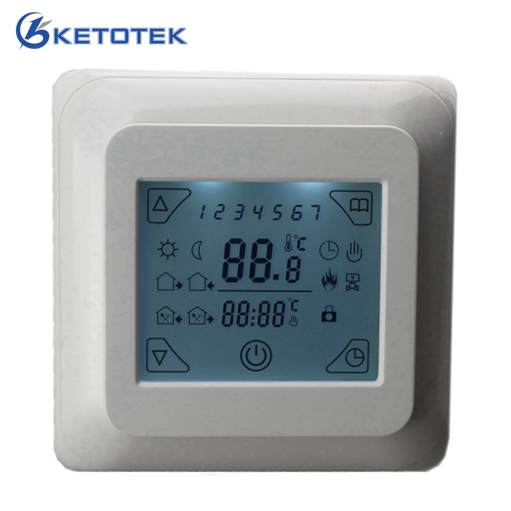 16A AC 220V Touch Screen Digital Room Air Thermostat Floor Heating Temperature Controller with LCD Backlight floor heating thermostat air condition temperature controller switch 16a 220v b119