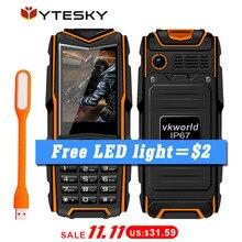 VKworld Piedra V3 Pequeños Teléfonos Móviles para Personas Mayores Hombre/Impermeable Del Teléfono 5200 mAh Banco de la Energía Dual SIM Linterna