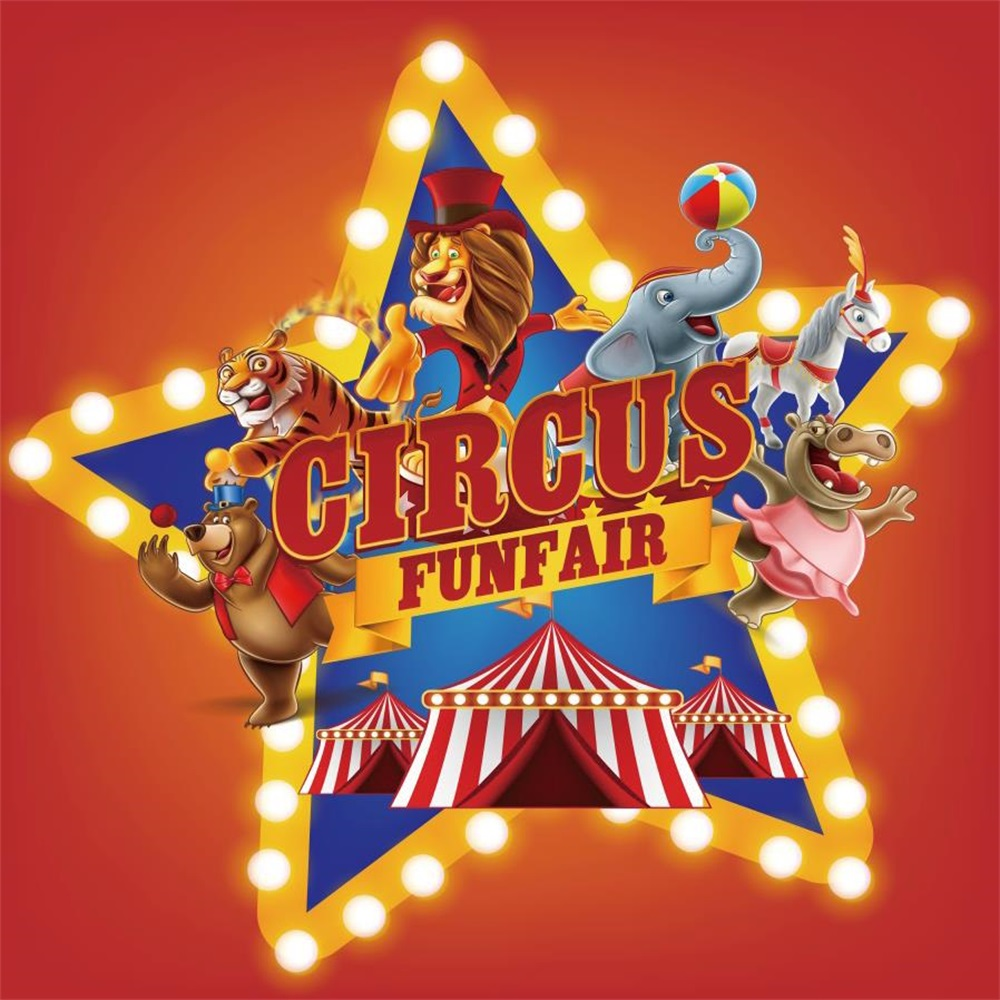 Laeacco Cartoon Circus Cruise Baby Birthday Party Photography Backgrounds Customized Photographic Backdrops For Photo Studio цена 2017