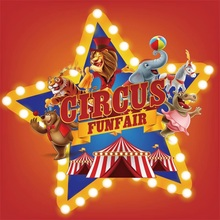 Laeacco Cartoon Circus Cruise Baby Birthday Party Photography Backgrounds Customized Photographic Backdrops For Photo Studio