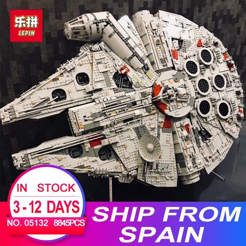 Lepin 05132 star destroyer millennium falcon compatibile con 75192 mattoni blocchi di costruzione di modello Wars