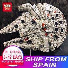 Лепин 05132 Звездный Разрушитель Сокол Тысячелетия Совместимость с 75192 кирпичи модель здания Конструкторы LegoINGlys войны