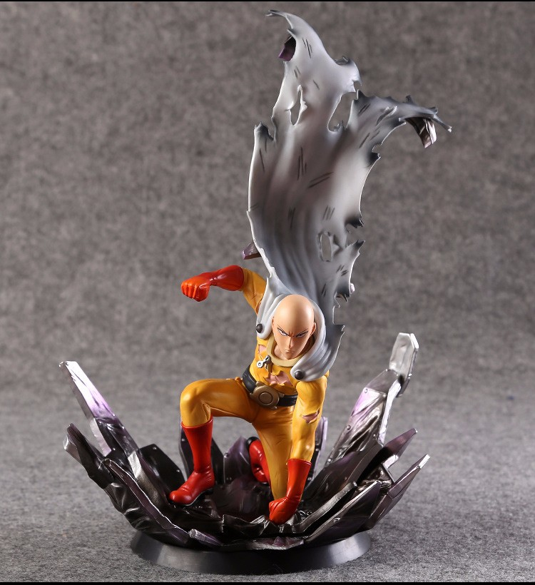 One Punch Man Action Figure Saitama Sensei One Punch PVC Figure 240mm One-Punch Man Genos Model Toys Anime ONE PUNCH-MAN Doll набор азбука тойс морское царство м 0016