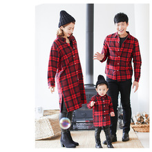 Mother Daughter Baby Clothes Family Matching Outfits Father Son T Shirt Plaid Sh