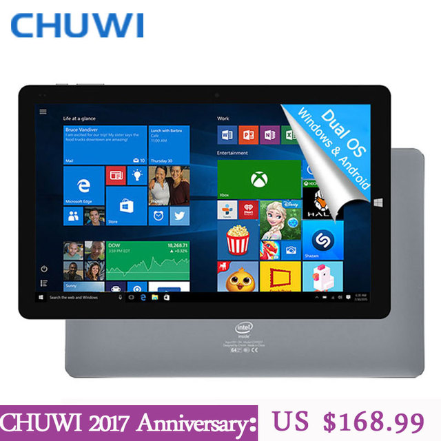 CHUWI Официальный! 10.8 Дюймов CHUWI Hi10 Plus Tablet PC Windows 10 Android 5.1 Dual OS Intel Atom Z8350 Quad Core 4 ГБ RAM 64 ГБ ROM