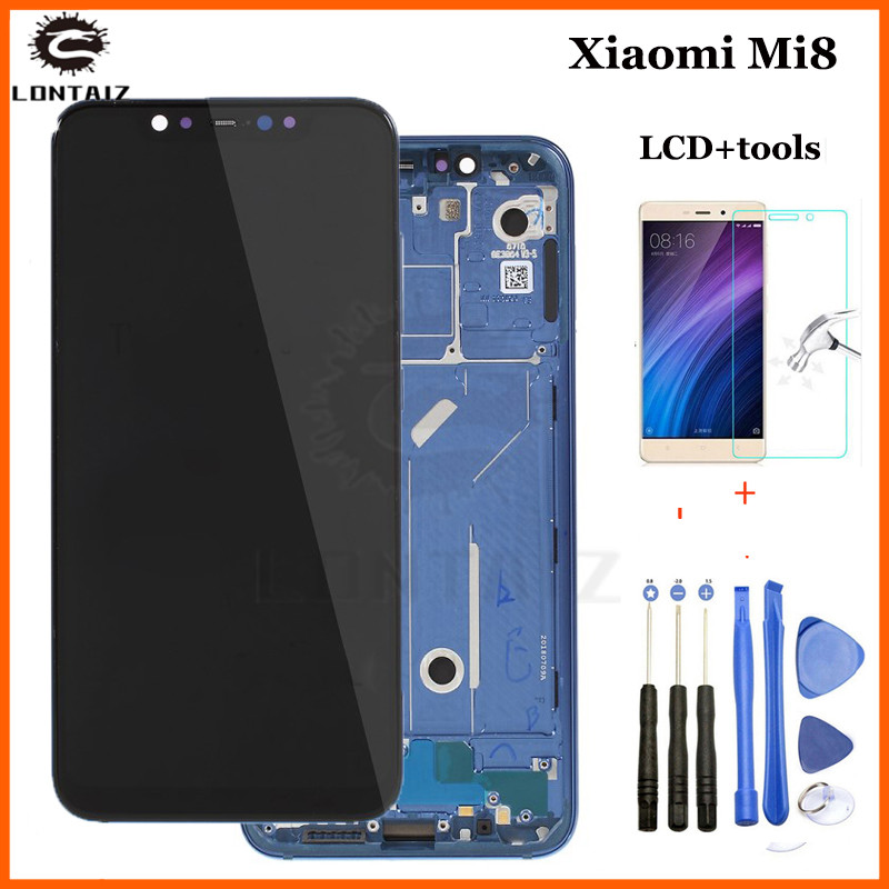 Xiaomi Mi8 LCD Display Touch Screen Digitizer Assembly For Xiaomi Mi8 LCD With Frame Screen Replacement For Xiaomi Mi 8 LCD