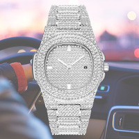 Silver Gold Rose Gold Shinning Mens Women Luxury Watch Diamond Iced Out Watch Stainless Steel Quartz Movement Fashion Clock