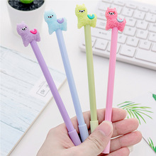 36pcs/lot  Creative Cute Alpaca 0.38mm Black Ink Cartoon Gel Pen Learning Stationery Children Gifts