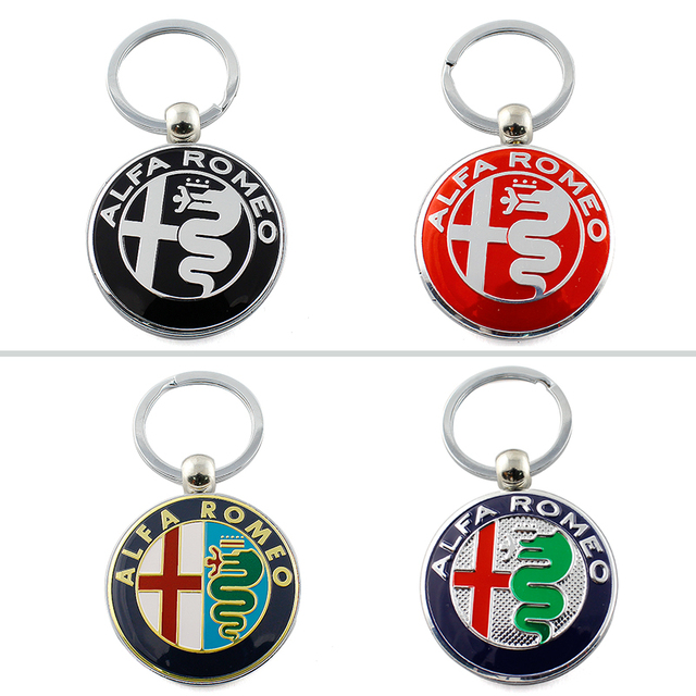 High Quality Metal Decorations For Alfa Romeo 159 3D Car alfa romeo Keychain Men's key pendant best gift