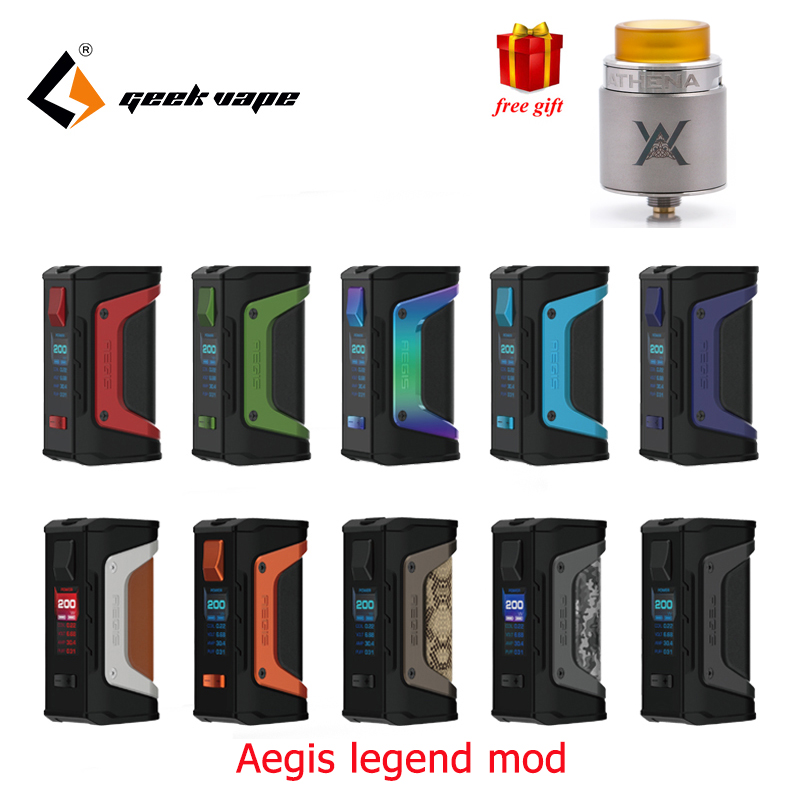 Big sale GeekVape Aegis mod aegis Legend 200W TC Box MOD Powered by Dual 18650 batteries e cigs No Battery for zeus rta blitzen