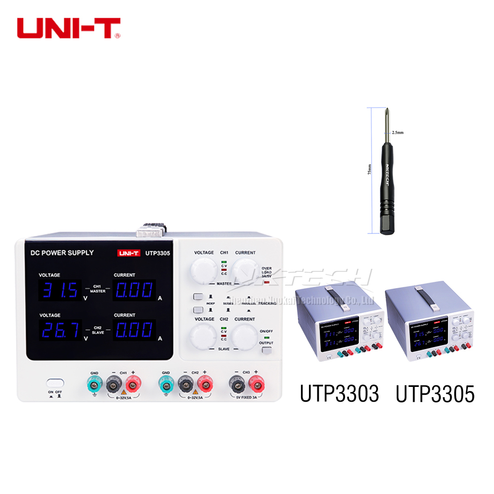 UNI T UTP3303 UTP3305 Digital DC Power Supply High Precision Constant 2CH Voltage 3CH Current 32V
