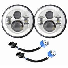 7-Inch Harley Motorcycle Modified Led Lights Headlamp Kit Set Easy To Install Plug And Play