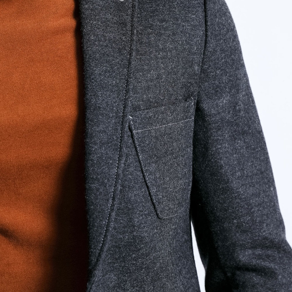 SIMWOOD 2020 Winter Smart Casual Blazers Men Single Button Mix Wool Jacket Fashion High Quality Coats Male Suits Clothes 180389