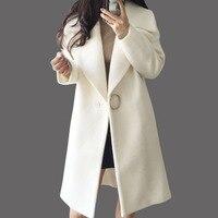 2018 модный Европейский Стиль тонкий кардиган пальто новый средней длины тонкий осень зима женские Шерстяное пальто casaco feminino qh1075