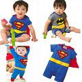 Baby Child Batman Superman Party Outfit Fancy Costume Superhero Kids Boys clothes Cartoon Batman Superman boys rompers 0-24M