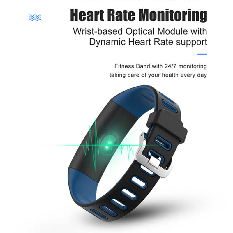 BANGWEI Men Smart Watch Women  Sport Watch Heart rate monitor Long standby fitness tracker IP67 Waterproof Watch for Android iOS