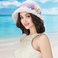 Fashion Woman Lady Spring Summer Bucket Caps Soft Breathable Sandy Beach Sun Hat