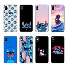 64f50300d16 Funny Cute Stitch Cartoon Emoji diseño suave Funda silicona TPU teléfono  caso cubierta para iphone 4 5 6 7 8 PLUS X Coque capa