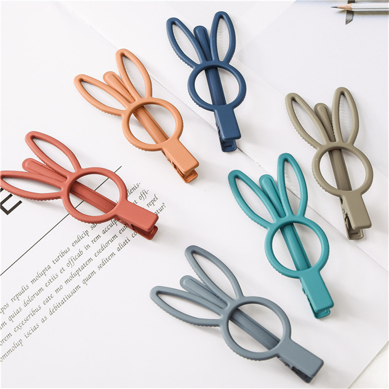 New Rabbit Hair Clips for Women Korean Style Cute Princess   Headwear   Solid Color Handmade Hairpin Barrette Girls Hair Accessories