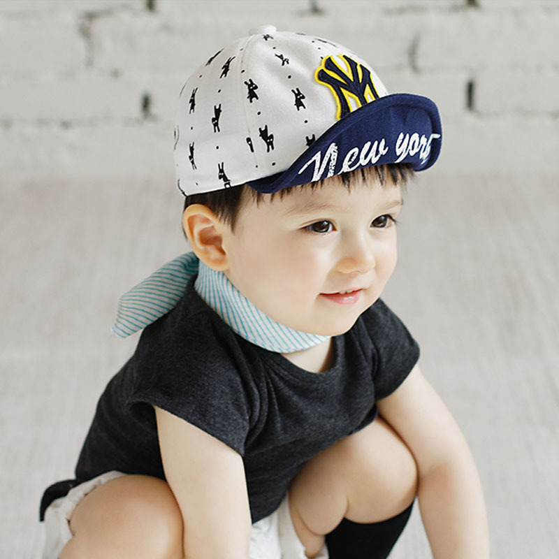 Cute Baby Unisex Baseball Cap Puppy Printed Letter Snapback Hip-hop Cap