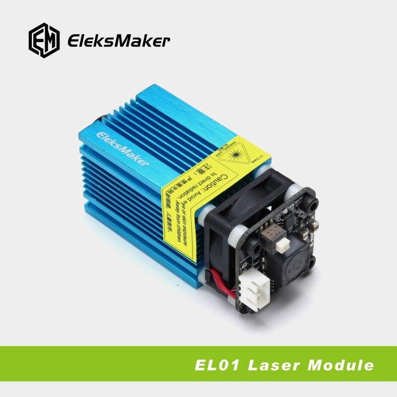 EleksMaker EL01 5500 445nm 5500 mW Module Laser bleu Modulation PWM 2.54-3 P bricolage graveur 33mm x 33mm x 86mm