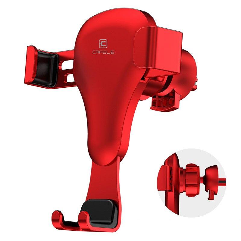 Gravedad reacción 360 girar titular del coche tipo Clip de ventilación de aire titular del teléfono del coche para el iPhone Samsung Xiaomi 8 huawei soportes