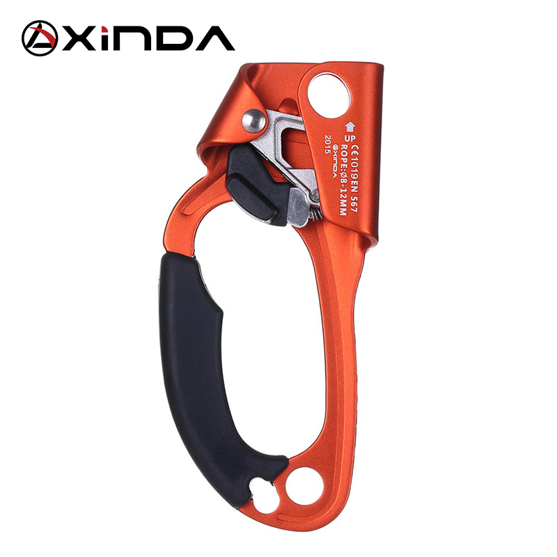 XINDA Outdoor Sports Rock Climbing Equipment Left Handed Left Handed Rope Clamp Device Ascender Survival Kits