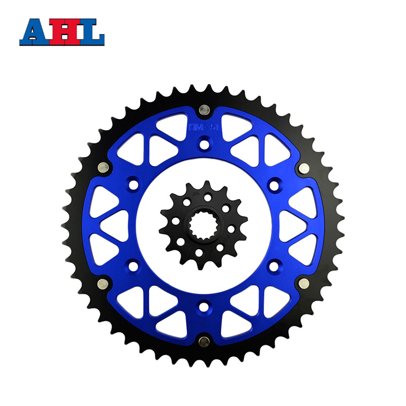 Motorcycle Parts Front & Rear Sprockets Kit For KTM GS125 1994-1997 GS250 1992-1993 GS300 1990-93 GS350 1986 Gear Fit 520 Chain for ktm 390 duke motorcycle leather pillon passenger rear seat black color