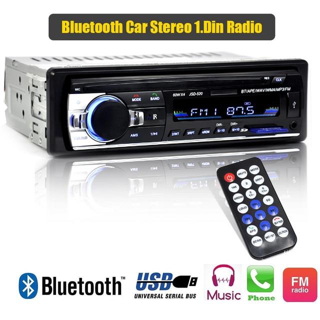 Stereo subwoofer car radio 1.din fm radiao autoradio with bluetooth and usb MP3 multimedia digital fm tuner dab radio receiver