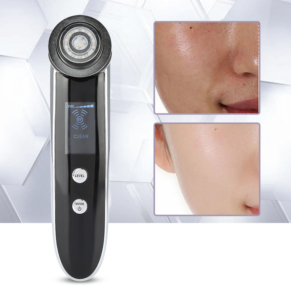 F LED Face Massage Lifting Tightening Reomve Wrinkles Anti-acne RF Radio Physical Body Massage Machine Skin Care цена
