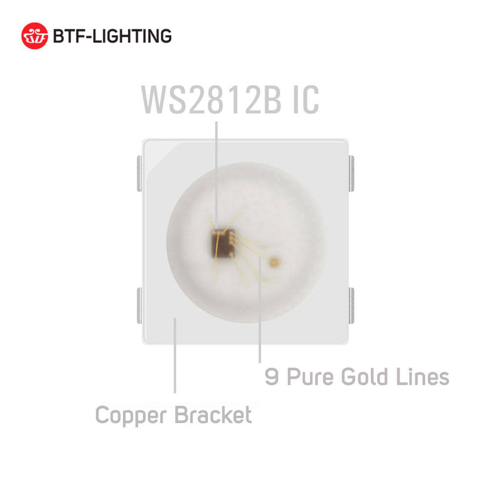 WS2812B LED-chip 10 ~ 1000st 5050 RGB SMD Svart / vit version WS2812 - LED-belysning - Foto 3