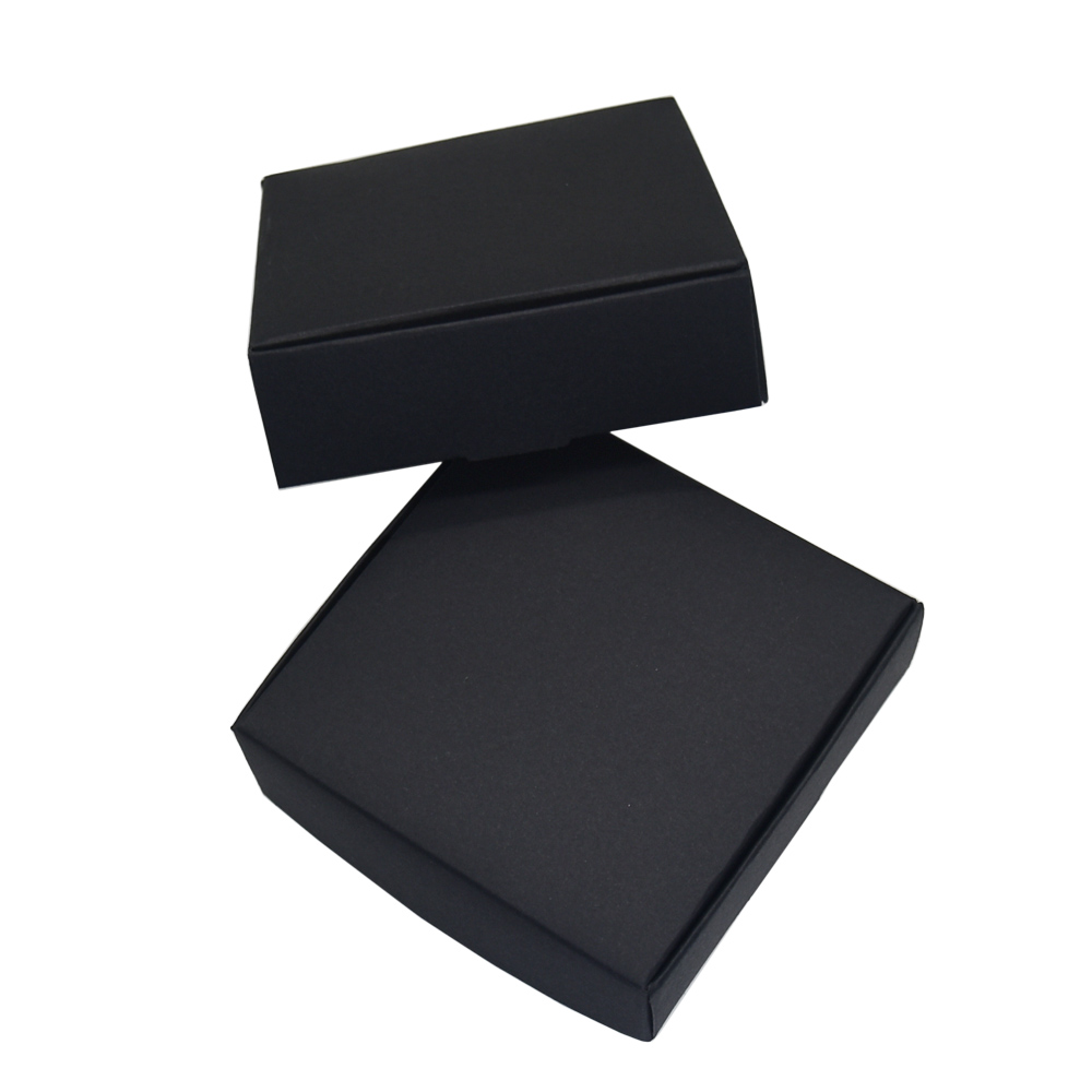 7 7 2 2cm Black Paper Boxes for Wedding Party Gift Packing DIY Handmade Soap Candy Package Kraft Paper Box Decoration 50pcs lot in Gift Bags Wrapping Supplies from Home Garden