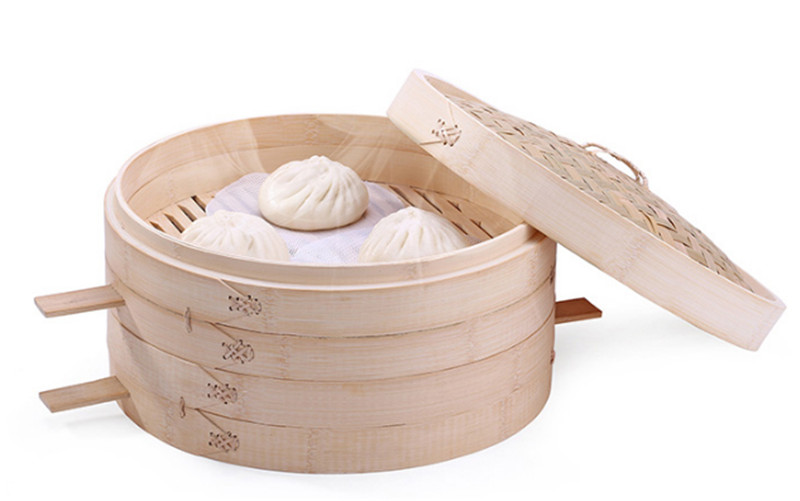 Bamboo Steamer Basket One Cage or Cover 10