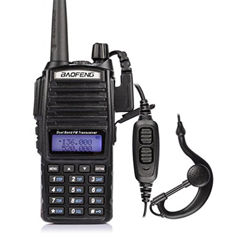 BaoFeng UV-82 5 w Talkie Walkie Double Bande VHF/UHF Radio Bidirectionnelle Double PTT Portable Radio Amateur Radio BAOFENG UV82
