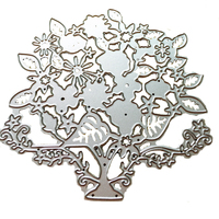 Flowers Tree Clothing Design Die Set for Making Delicate Cards Photo Album Calendar