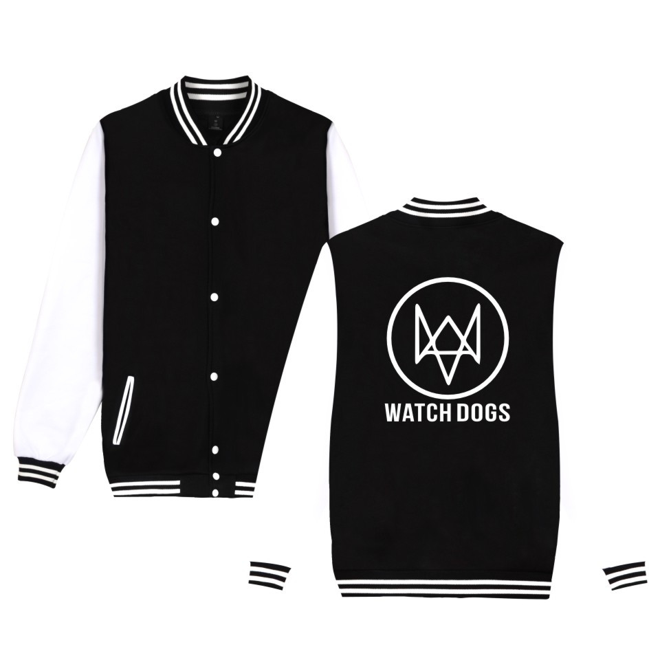 Action-Adventure Video Game Watch Dogs 2 Jacket Men Women Cotton Fashion Casual Clothing Baseball Uniform WATCH_DOGS 2 Jacket