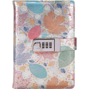 Image 2 - New A5 Leather Diary Notebook with Lock code 140 sheets paper notepad note book  Office school supplies Gift