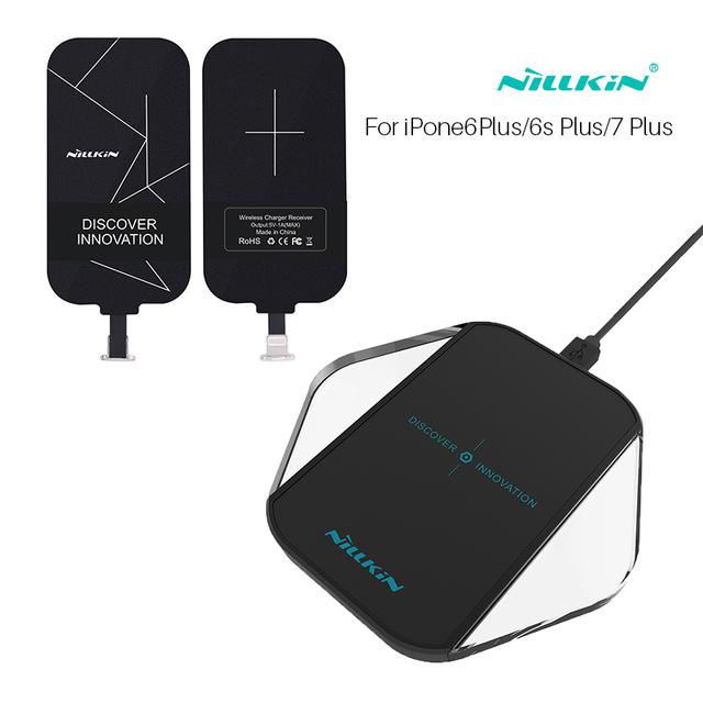 Nillkin qi carregador sem fio saco cubo mágico e receptor portátil sem fio do carregador pad para iphone 6/6 s/6 plus/6 splus/7 plus/5/5S/se