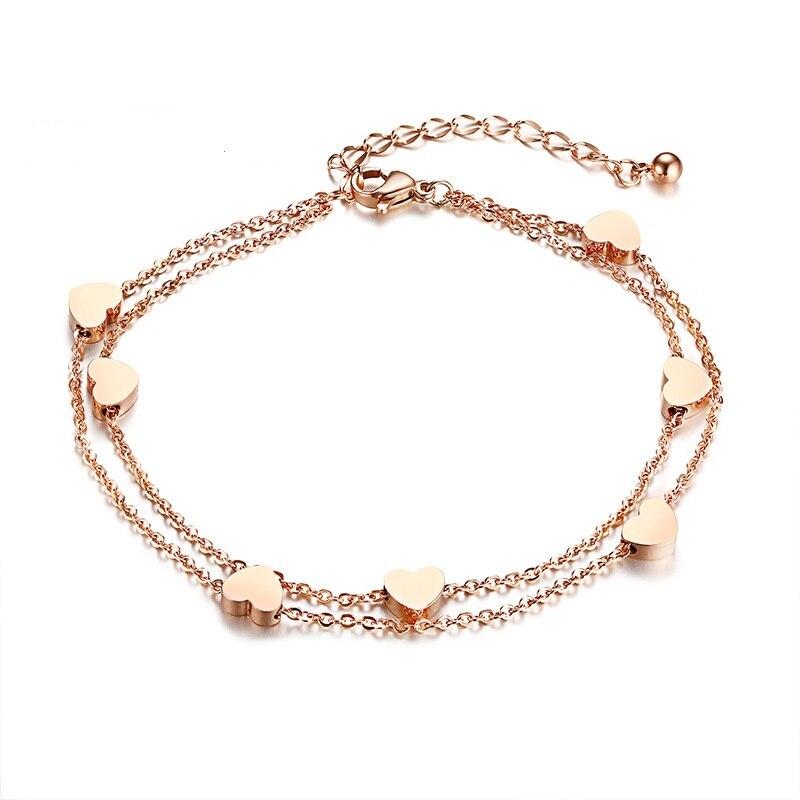 Купить высококачественные трендовые браслеты цвета розового золота
