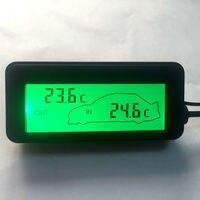 Mini LCD Termômetro Digital Do Carro DC 12 V Carro Dentro/Fora Veículos Backlit Verde Medidor De Temperatura Termômetro 1.5 M CableSensor