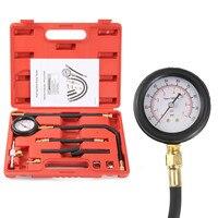 11Pcs Automotive Fuel Injection Pump Injector Tester Kit Pressure Gauge Test Gasoline 0 100psi Car Diagnostic Tool