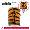 Dispalang animais leopardo cobra impressão girafa capa protetor de bagagem mala das mulheres dos homens de moda à prova d' água capas protetoras