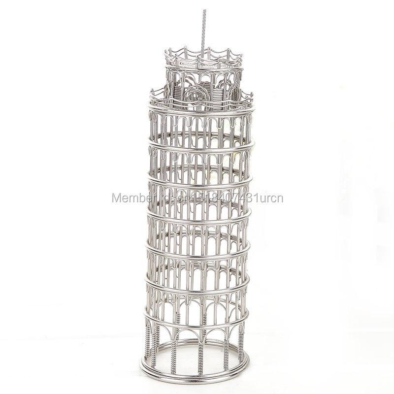 DOPRAVA ZDARMA J12 TOWER PISAS LEANING SCULPTURE / MODEL TAINLESS HAND-MADE ART ART CRAFTS SVATBA & BIRTHDAY & HOME & KANCELÁŘE & DÁRKY A DÁRKY