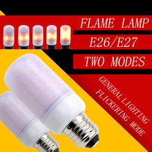 LED Flame Lamp Candle Bulb leds Christmas light Two Modes 2835 E27/E26 Flickering Emulation Decorative Lamps Street Lights Night