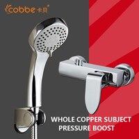 Classic Chrome Shower Sets For The Bathroom Zinc Alloy Handle Waterfall Bath Shower Faucet Brass Bathroom