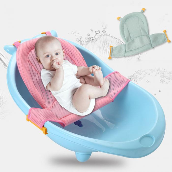 Baby Bath Mesh Seat Support Hammock Bathing Bathtub Infant Care ...