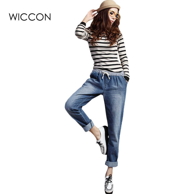 Spring large size women jeans female elastic waist jeans straight waist Slim stretch denim jeans woman's jean pants women jeans large size high waist autumn 2017 blue elastic long skinny slim jeans trousers large size denim pants stretch female