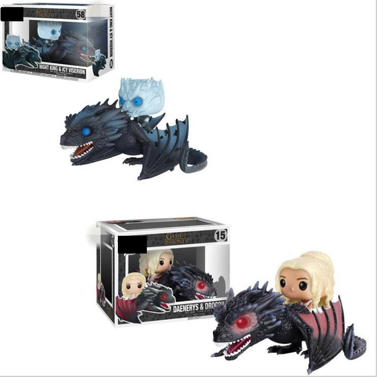 Game Of Thrones NIGHT KING & ICY VISERION Daenerys Rides Dragon Action Toy Figures Collectible Model With Box
