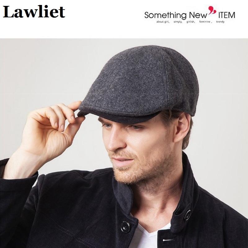 Man woolen Beret cap ear protect men cap Warm ivy Hat Classic Design Visor Cap Snapback High Quality male cap A411