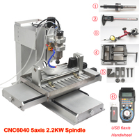 6040 5 axis CNC Router Engraving Machine with Ball Screw CNC Pillar Type CNC Wood Aluminum Copper Metal Milling Machine CNC